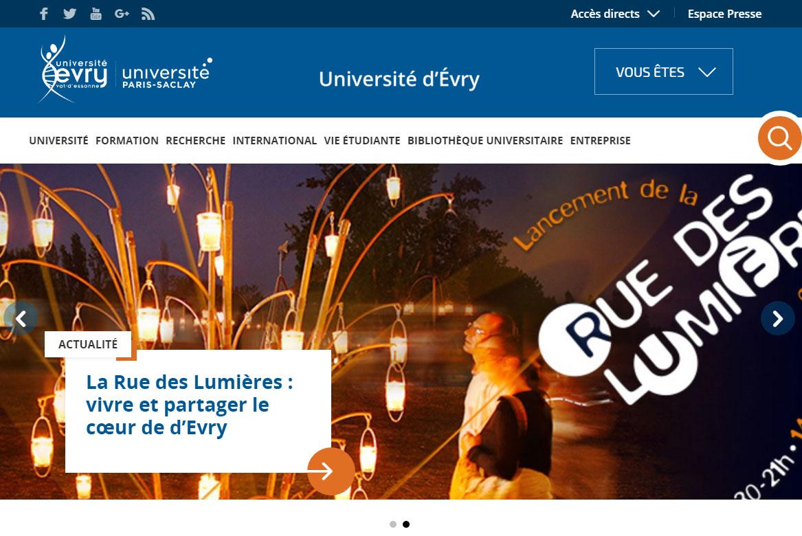 Un nouveau site internet pour l Université d Evry ce9815c3d126